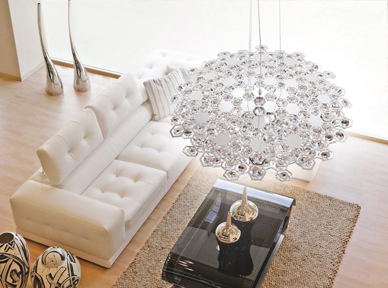 Lampadari Carnaby in metallo e cristalli