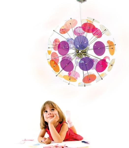 lampadari colorati : Lampadari moderni in dischetti colorati in plexiglass