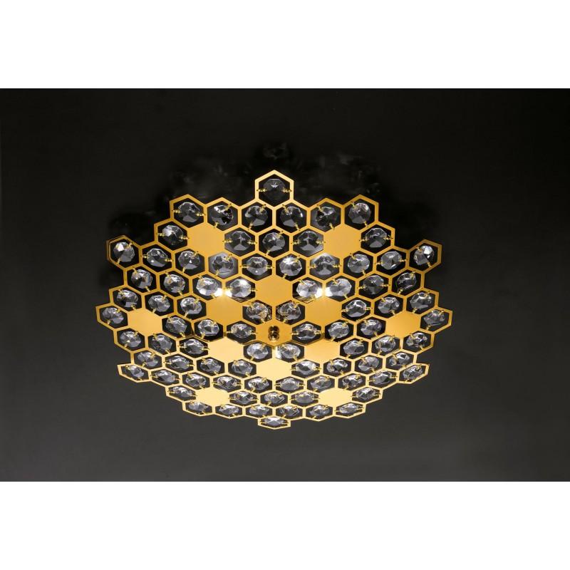 Plafoniere moderna in metallo e cristalli for Plafoniere moderne