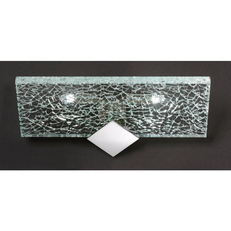 Applique moderne in vetro e metallo cromato for Applique moderne