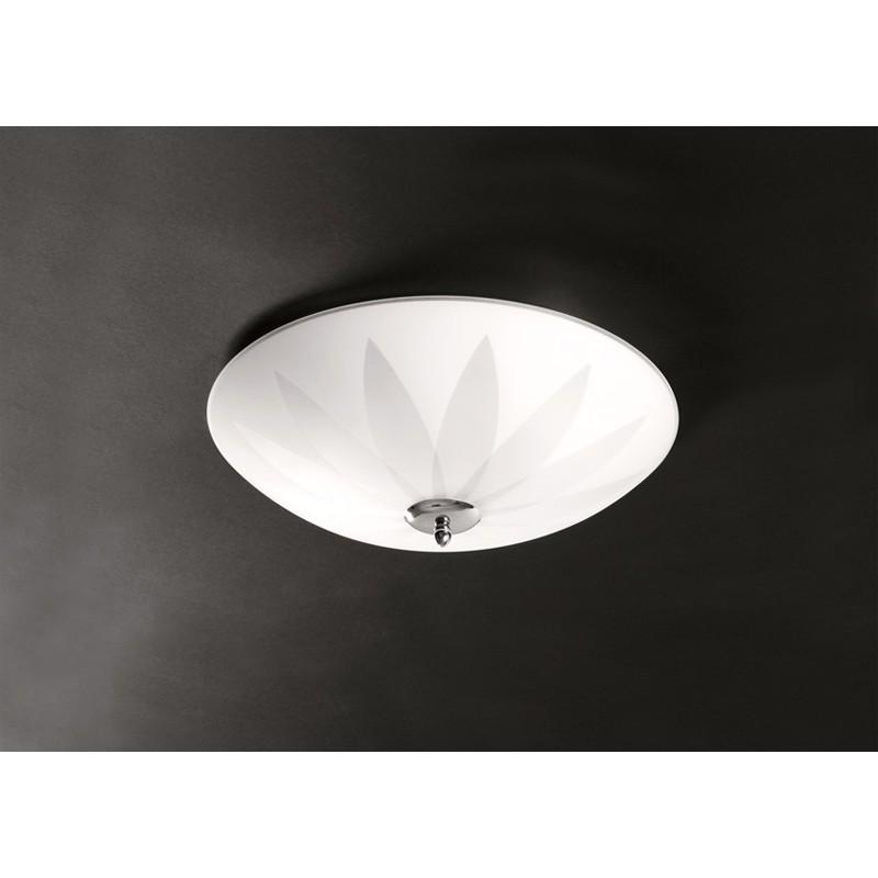 lampadari plafoniere moderne : Plafoniere moderne in metallo e cristalli